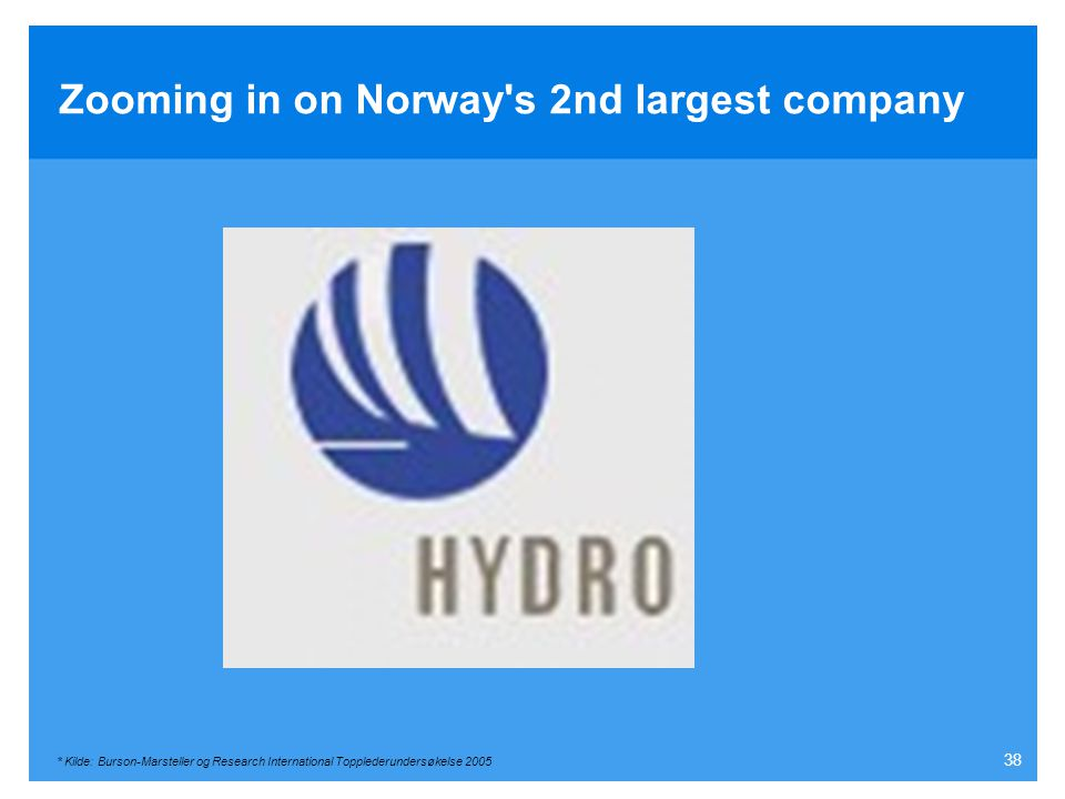 Zooming in on Norway s 2nd largest company