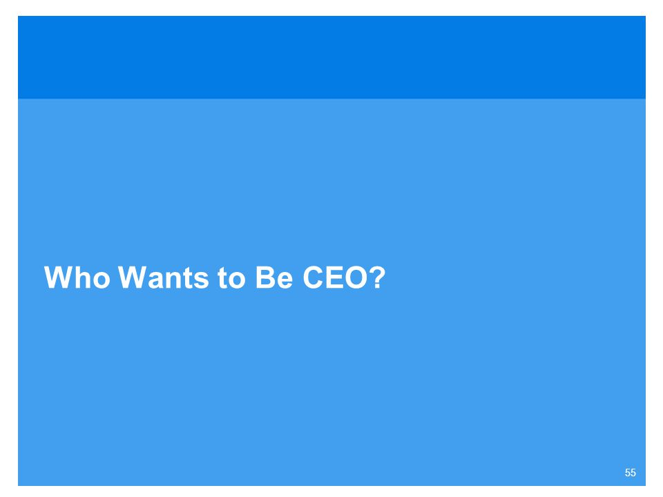 Who Wants to Be CEO