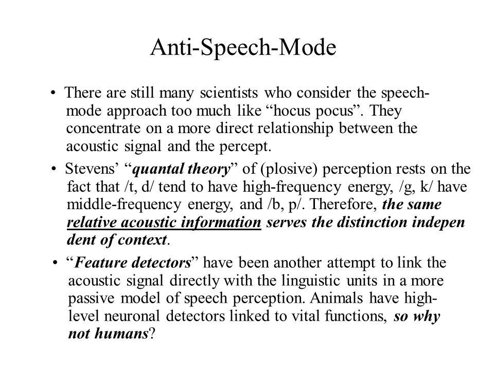 Anti-Speech-Mode