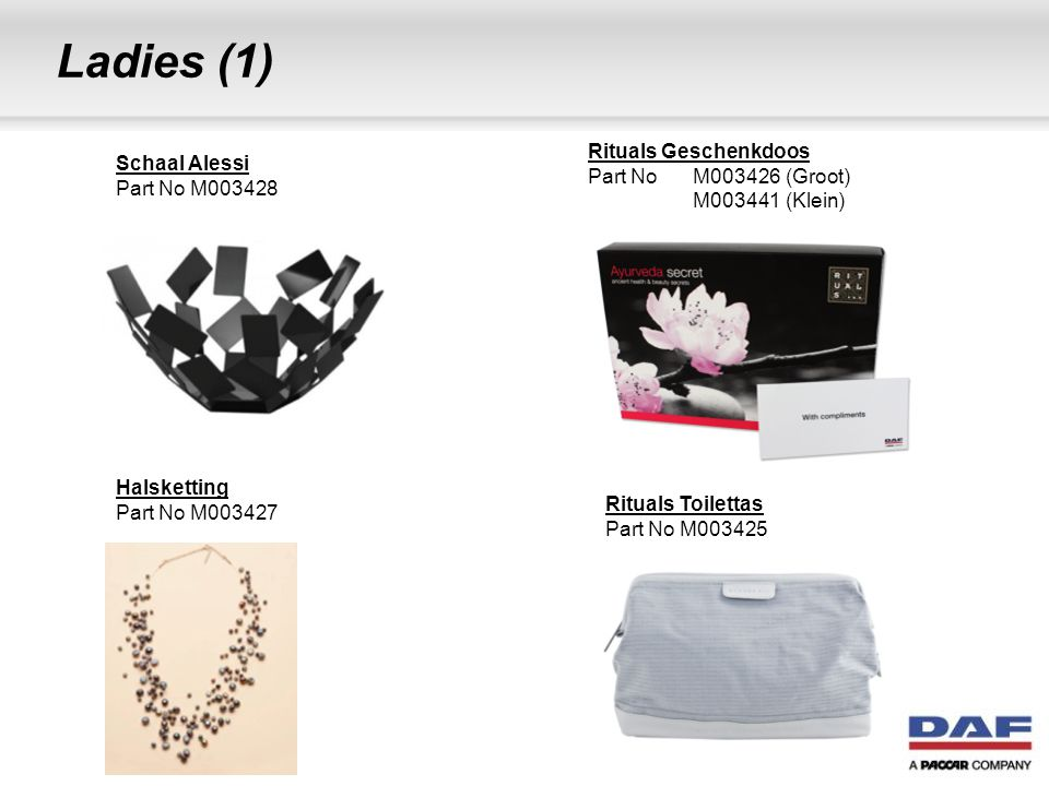 Ladies (1) Rituals Geschenkdoos Part No M003426 (Groot)