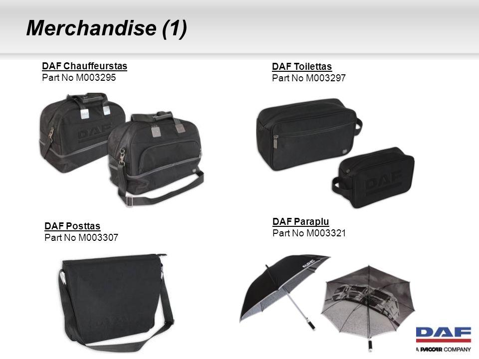Merchandise (1) DAF Chauffeurstas DAF Toilettas Part No M003295