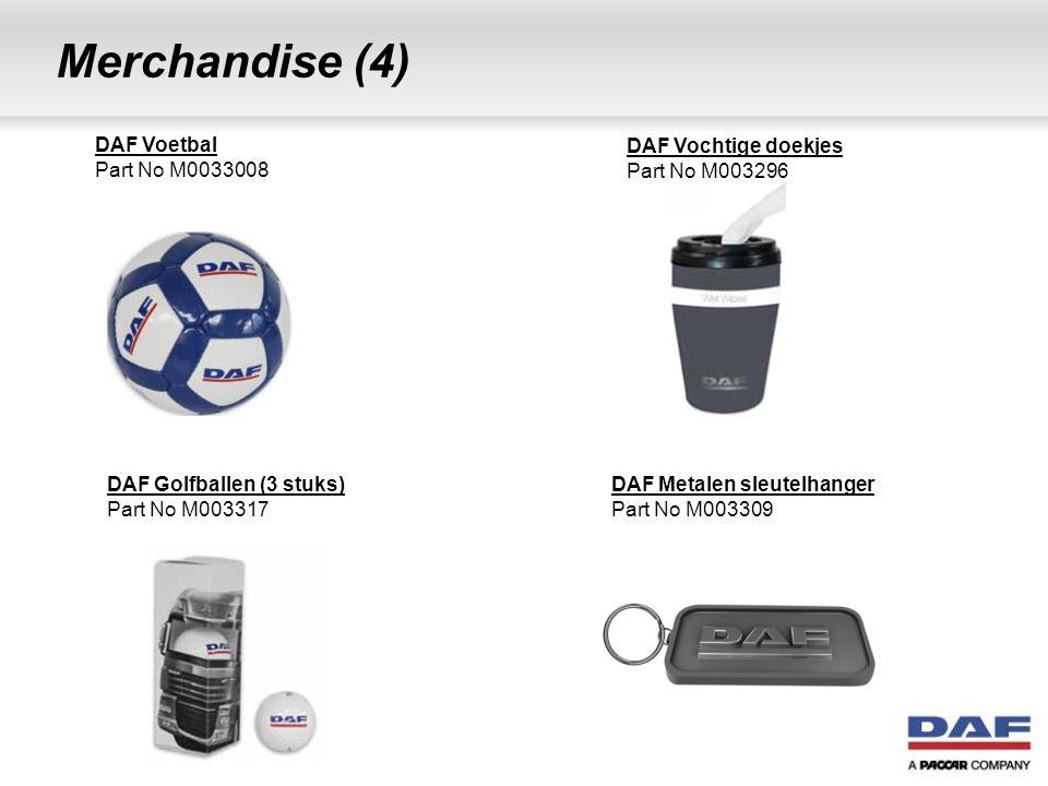 Merchandise (4) DAF Voetbal Part No M0033008 DAF Vochtige doekjes