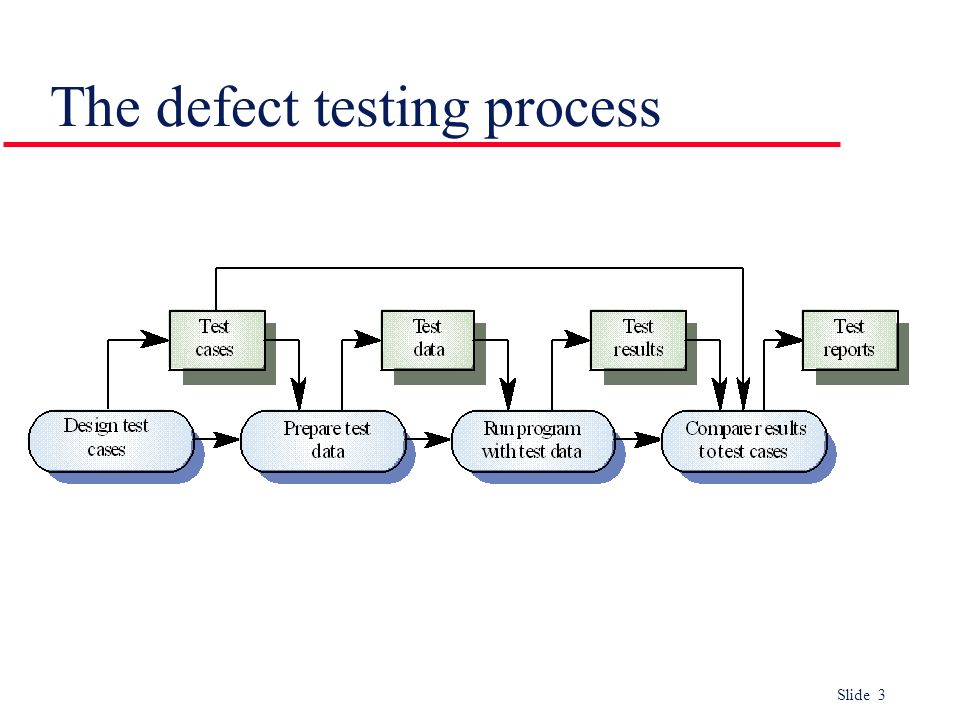 The defect testing process