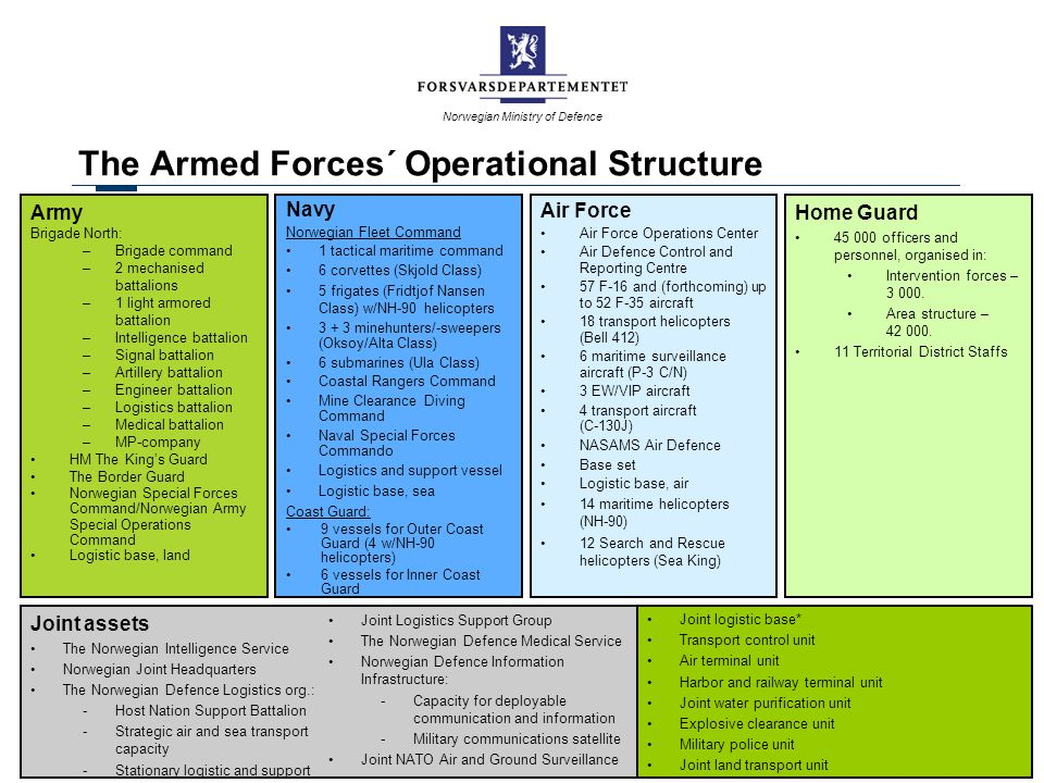 The Armed Forces´ Operational Structure