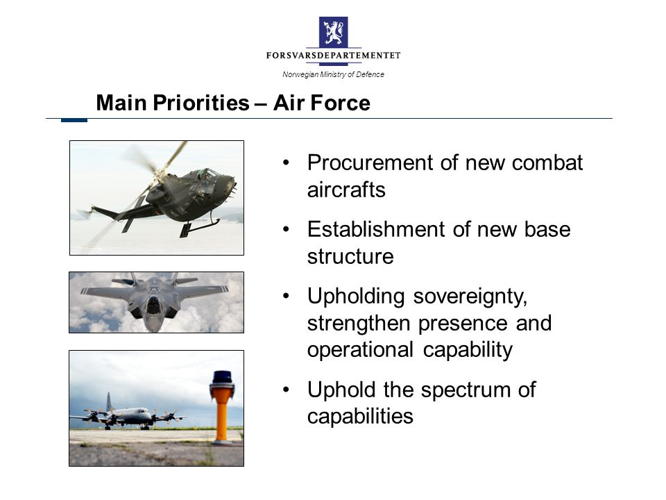 Main Priorities – Air Force