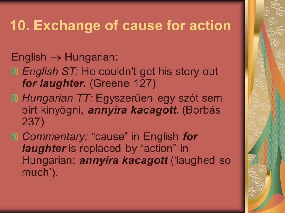 10. Exchange of cause for action