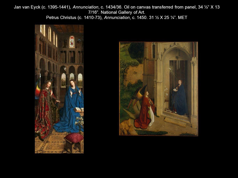 Jan van Eyck (c. 1395-1441), Annunciation, c. 1434/36