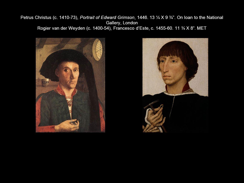 Petrus Christus (c. 1410-73), Portrait of Edward Grimson, 1446