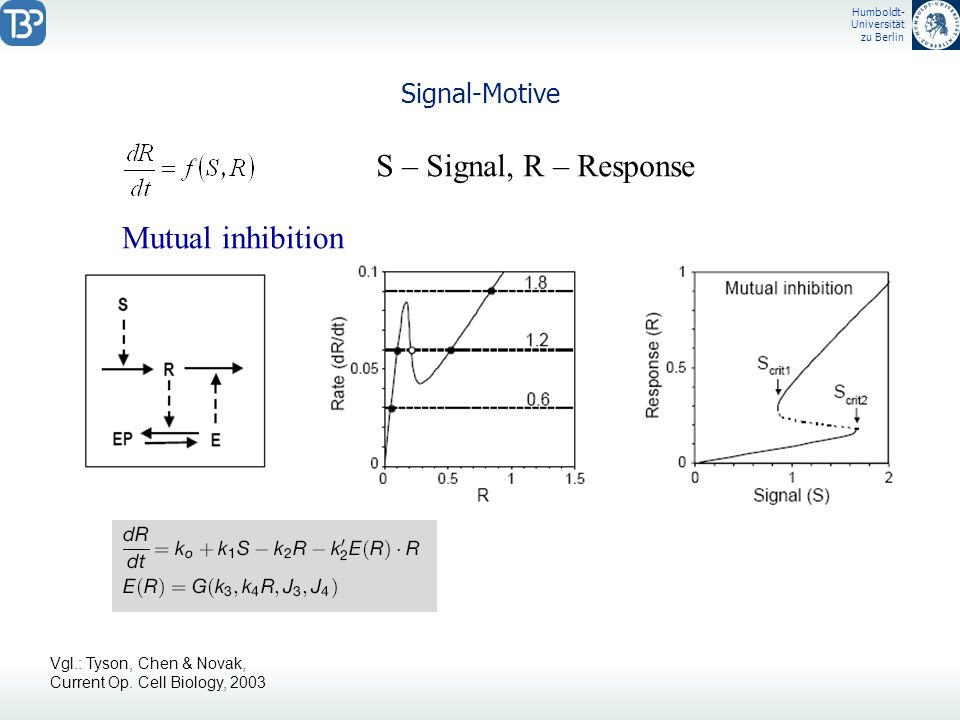 S – Signal, R – Response Mutual inhibition Signal-Motive