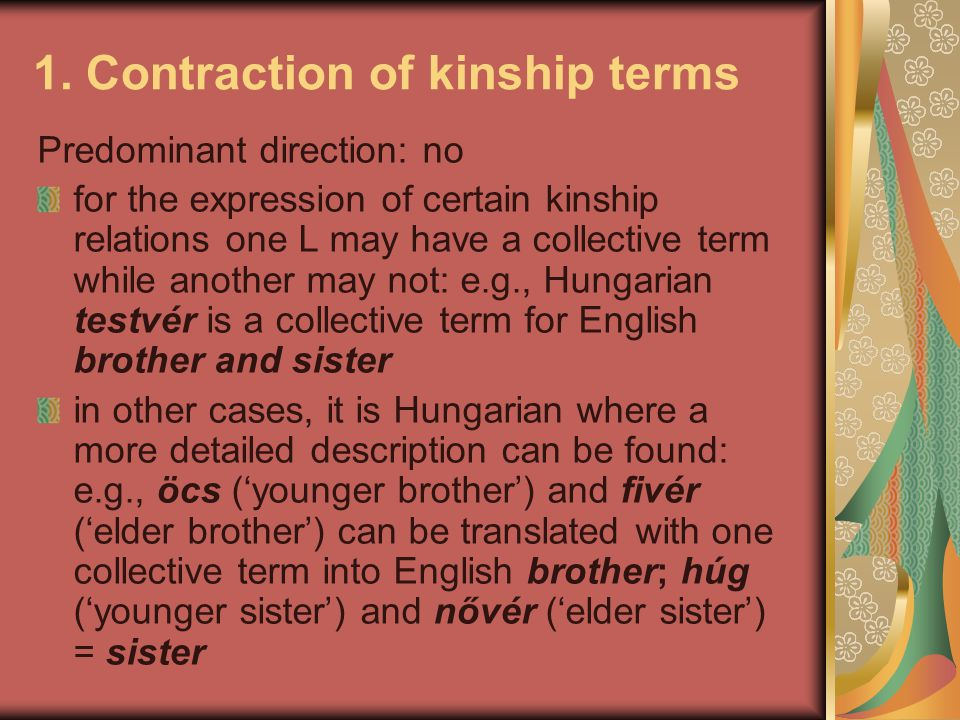 1. Contraction of kinship terms