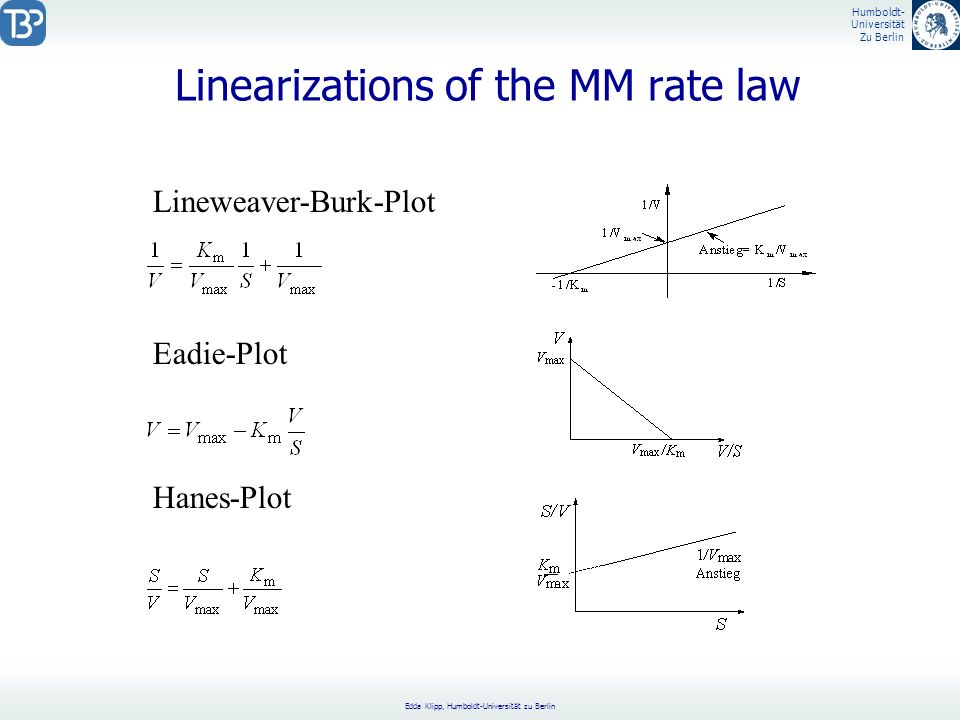 Linearizations of the MM rate law