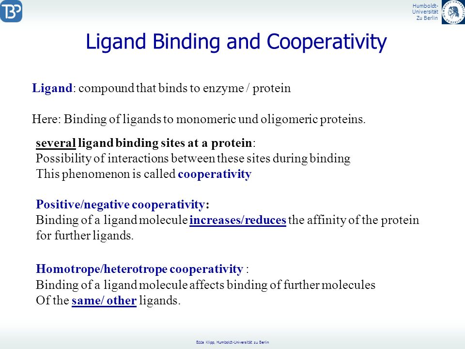 Ligand Binding and Cooperativity