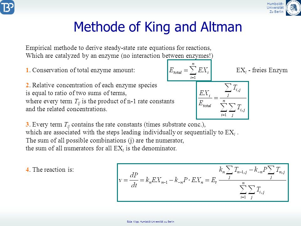 Methode of King and Altman