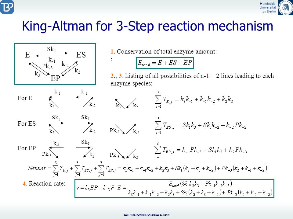 King-Altman for 3-Step reaction mechanism