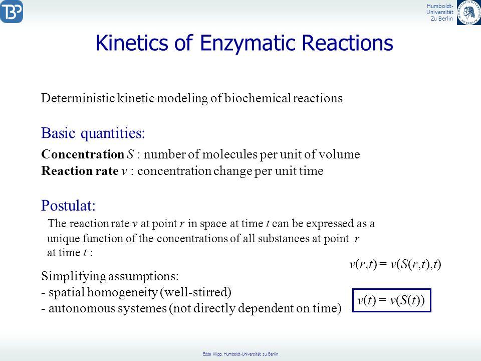 Kinetics of Enzymatic Reactions