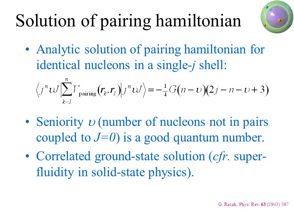Solution of pairing hamiltonian