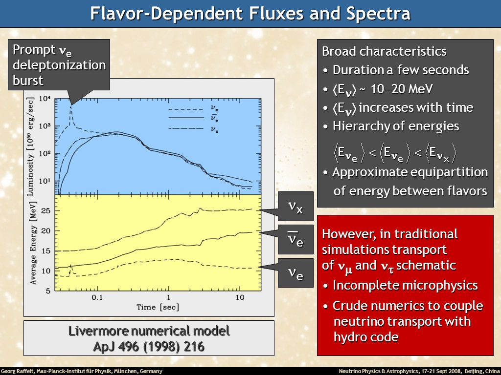 Flavor-Dependent Fluxes and Spectra