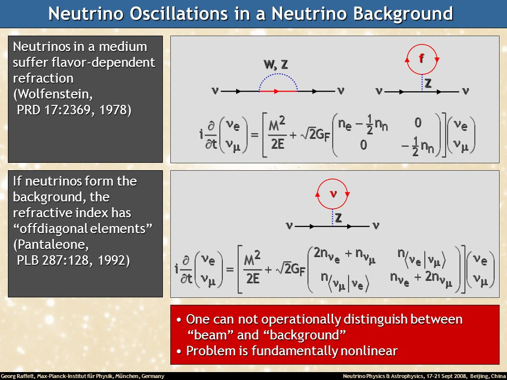 Neutrino Oscillations in a Neutrino Background