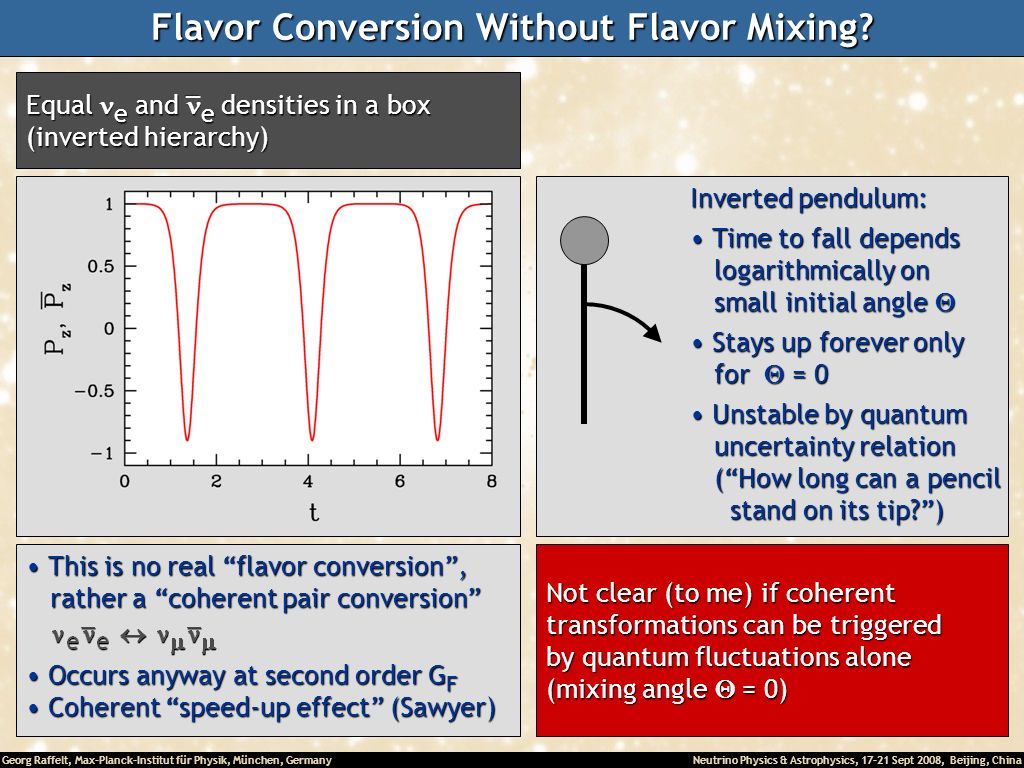 Flavor Conversion Without Flavor Mixing