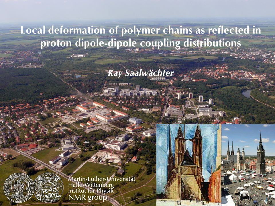 Local deformation of polymer chains as reflected in proton dipole-dipole coupling distributions