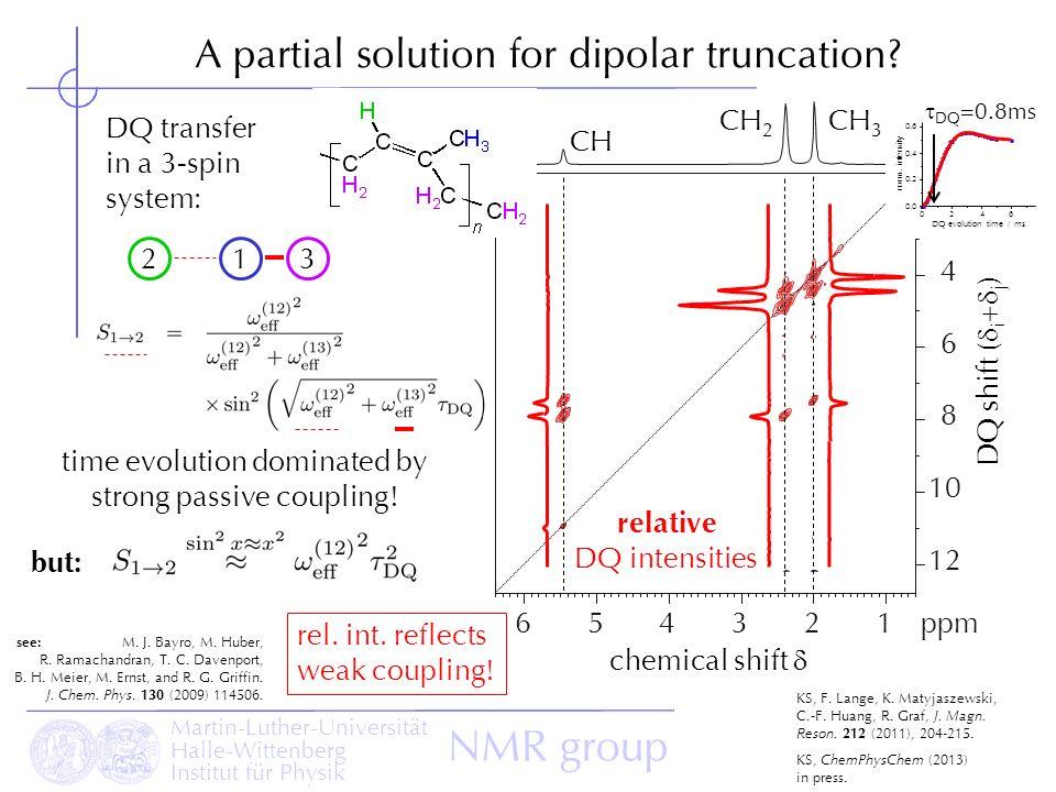 A partial solution for dipolar truncation