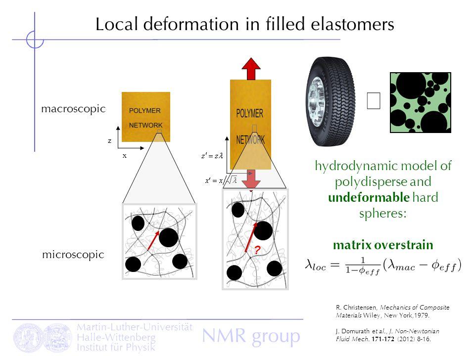 º Local deformation in filled elastomers