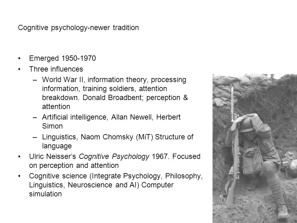 Cognitive psychology-newer tradition