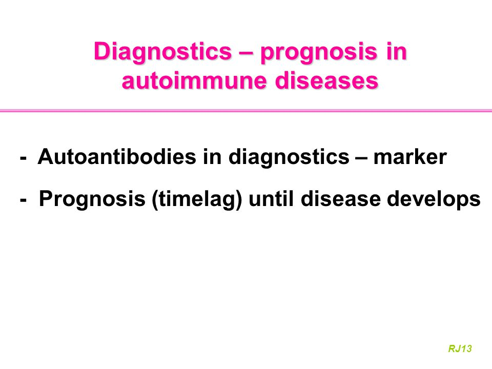 Diagnostics – prognosis in