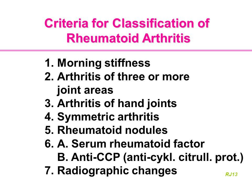Criteria for Classification of