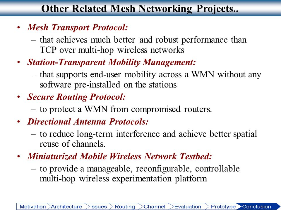 Other Related Mesh Networking Projects..