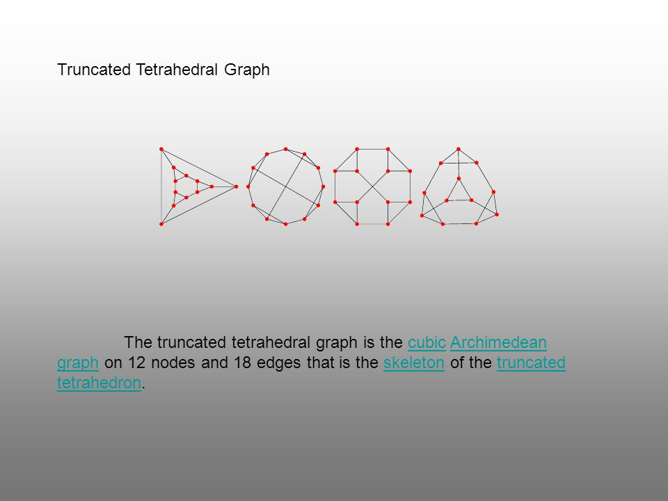 Truncated Tetrahedral Graph