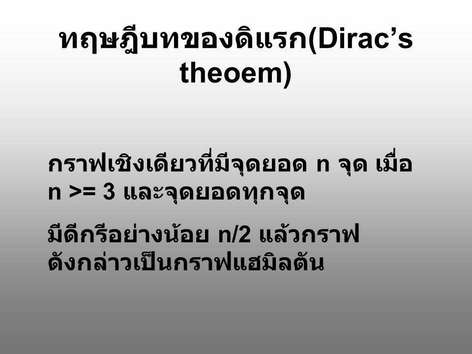 ทฤษฎีบทของดิแรก(Dirac's theoem)