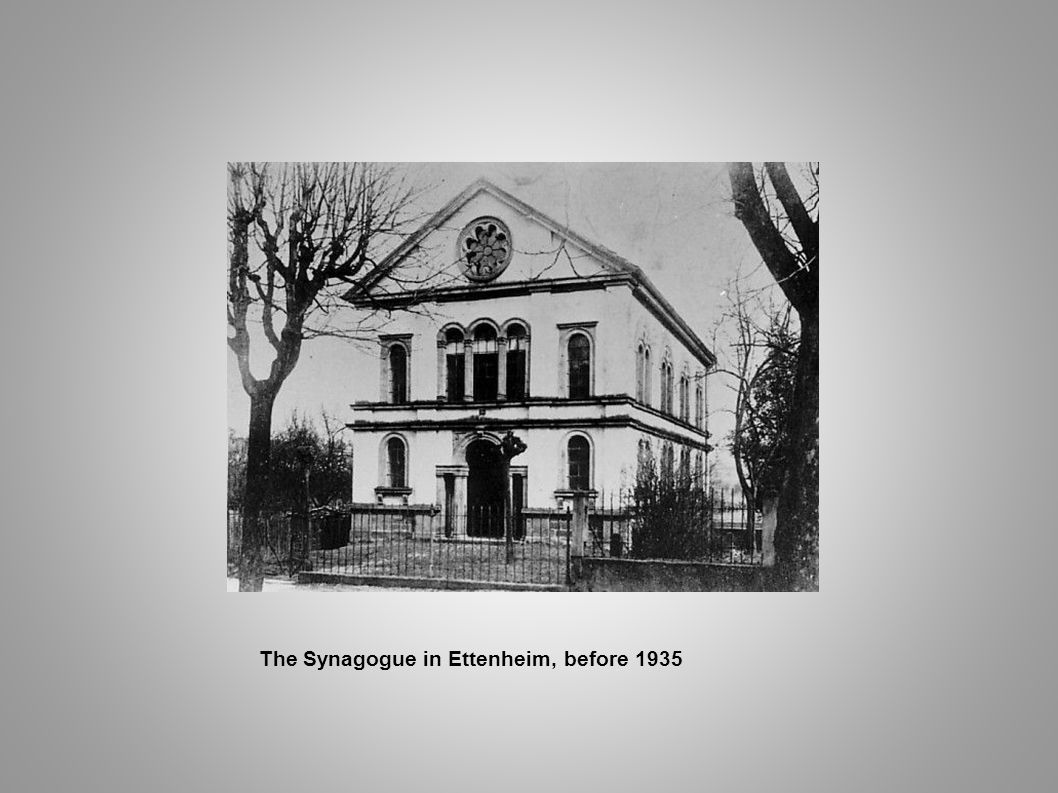 The Synagogue in Ettenheim, before 1935