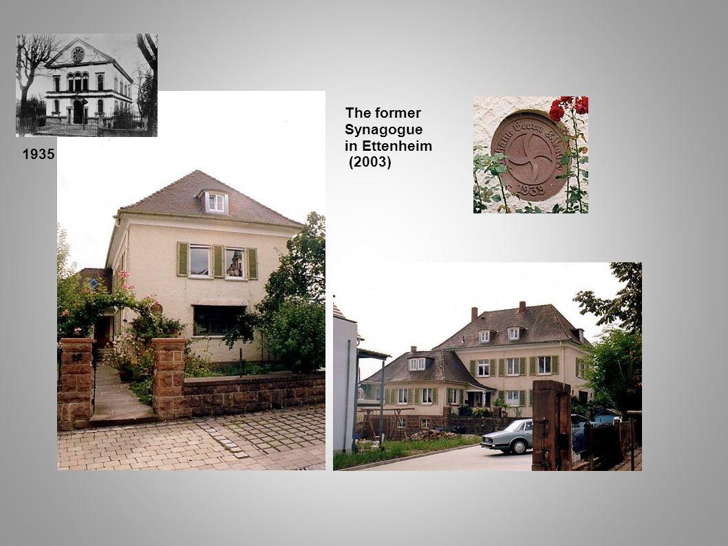 The former Synagogue in Ettenheim (2003) 1935