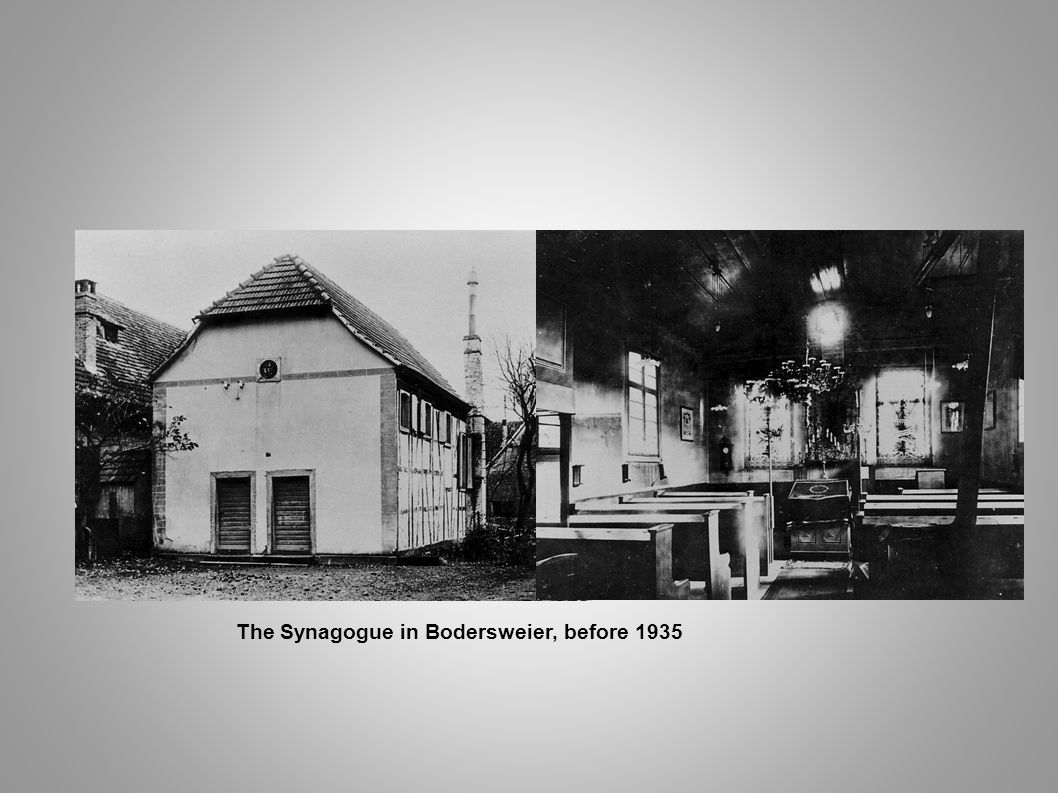 The Synagogue in Bodersweier, before 1935