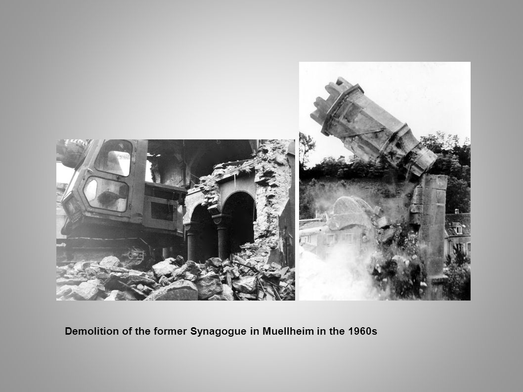 Demolition of the former Synagogue in Muellheim in the 1960s
