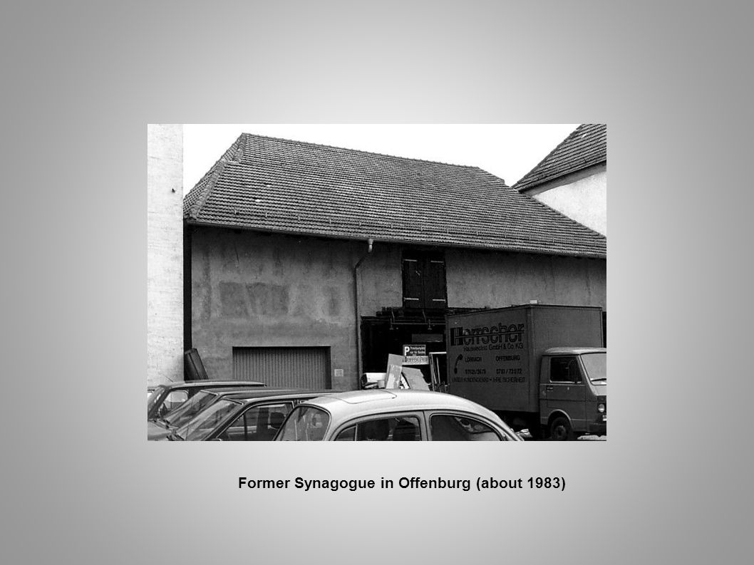 Former Synagogue in Offenburg (about 1983)