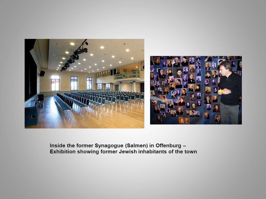 Inside the former Synagogue (Salmen) in Offenburg –