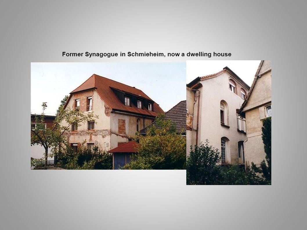 Former Synagogue in Schmieheim, now a dwelling house