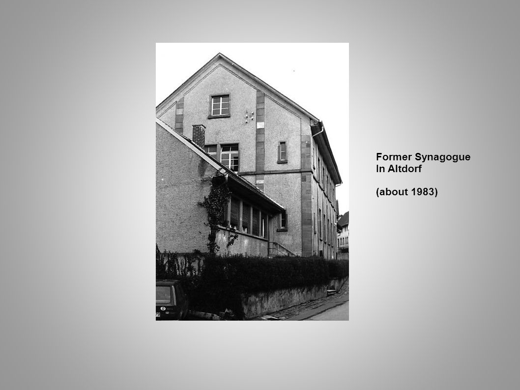 Former Synagogue In Altdorf (about 1983)