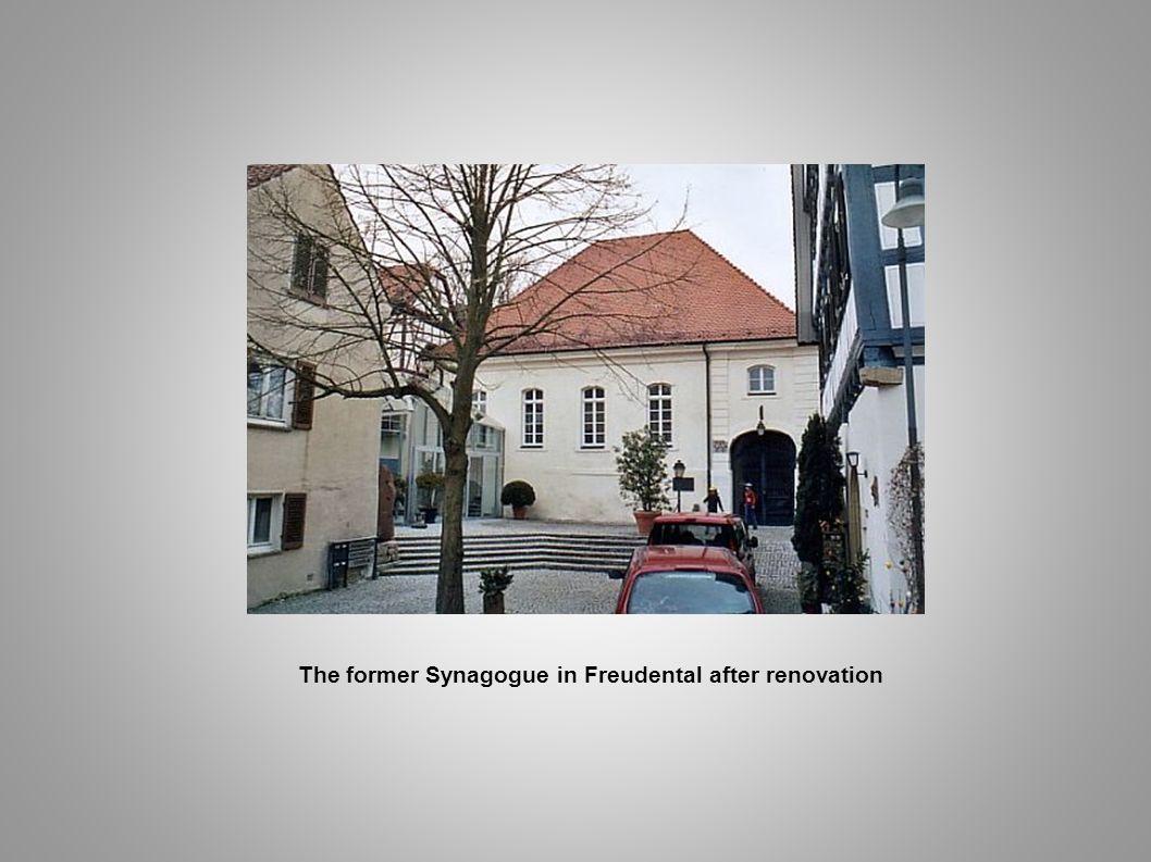 The former Synagogue in Freudental after renovation