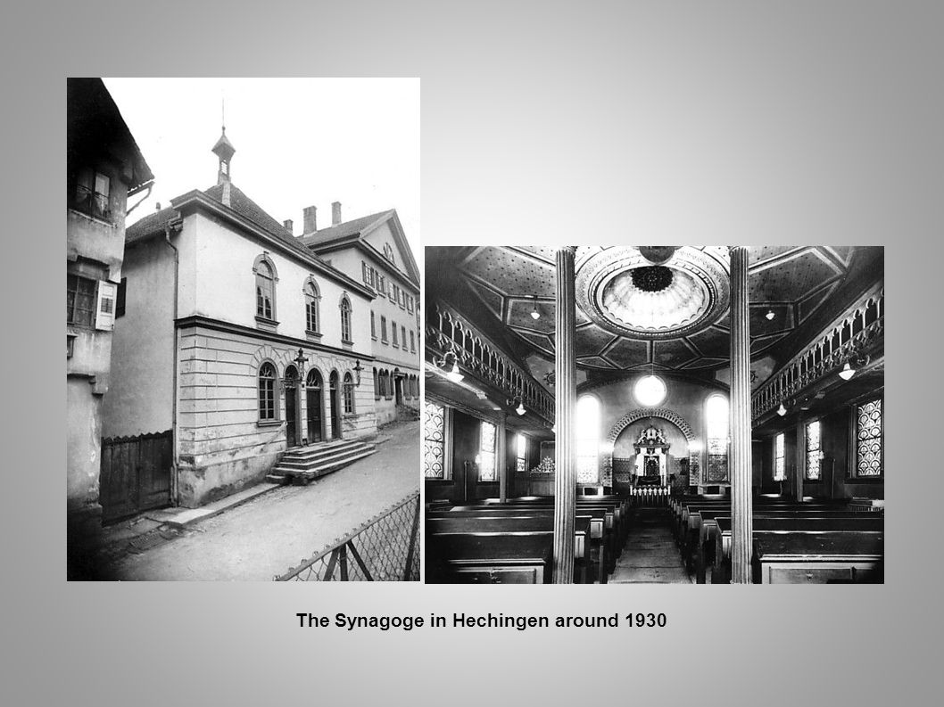 The Synagoge in Hechingen around 1930