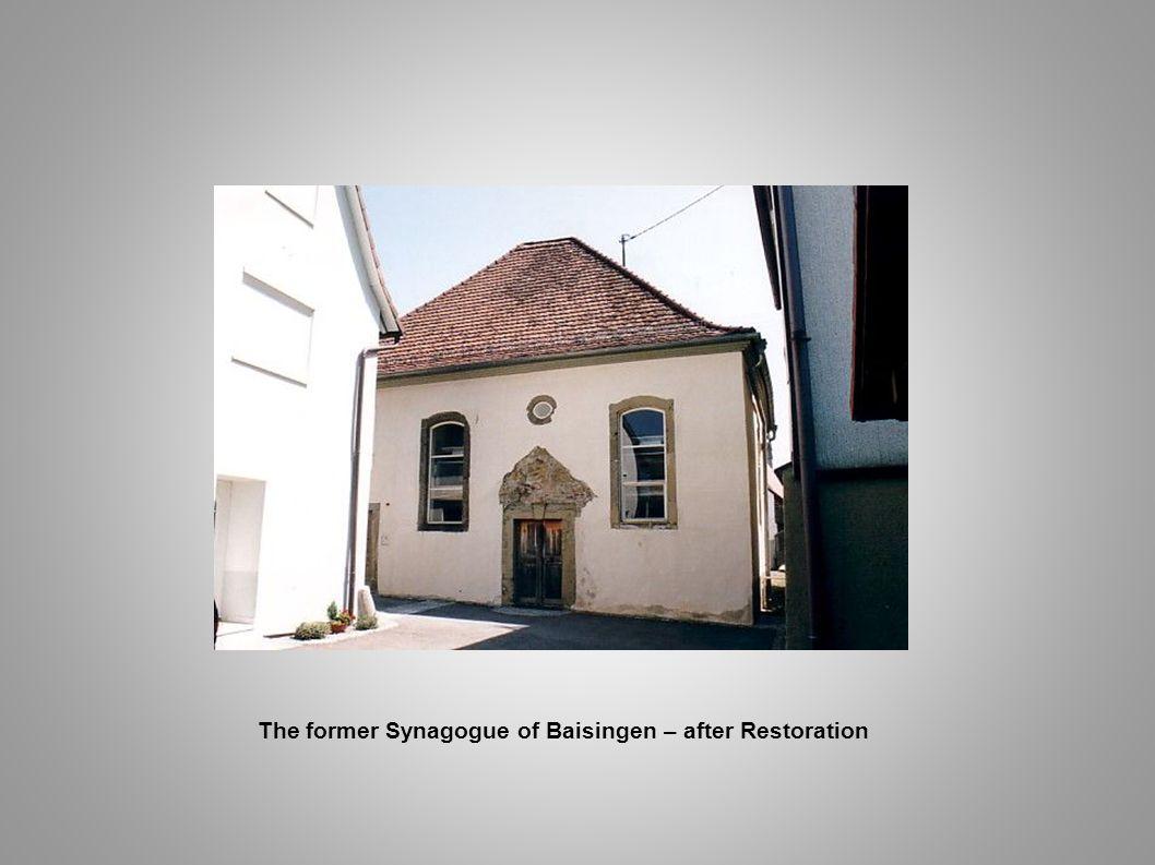 The former Synagogue of Baisingen – after Restoration