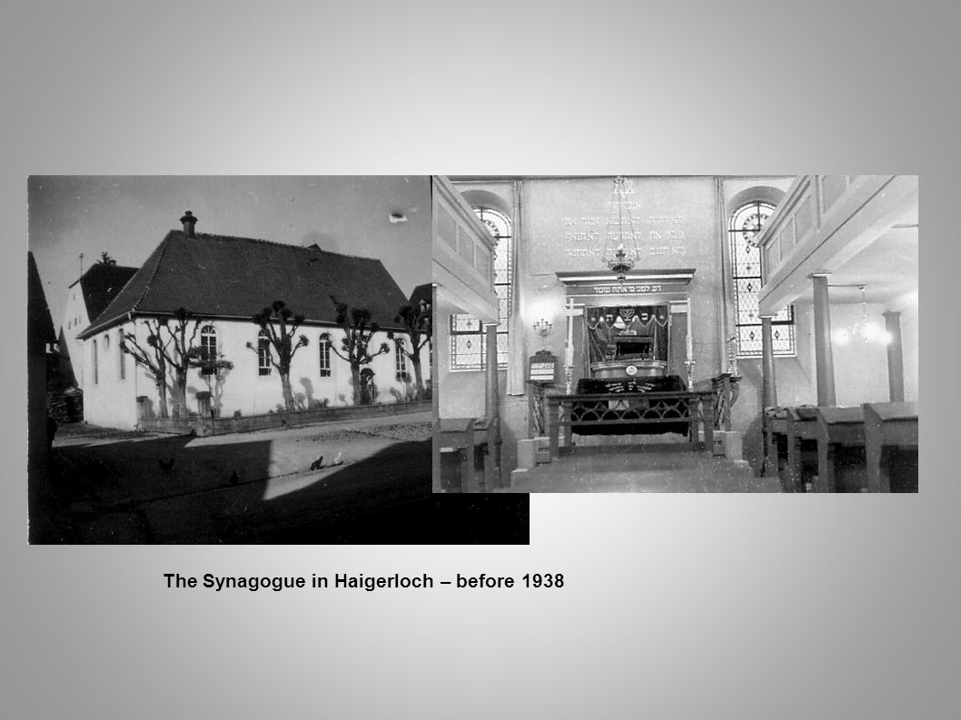 The Synagogue in Haigerloch – before 1938