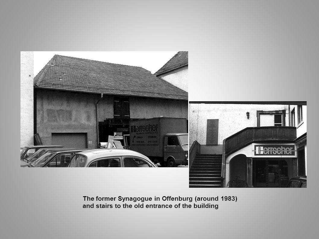 The former Synagogue in Offenburg (around 1983)