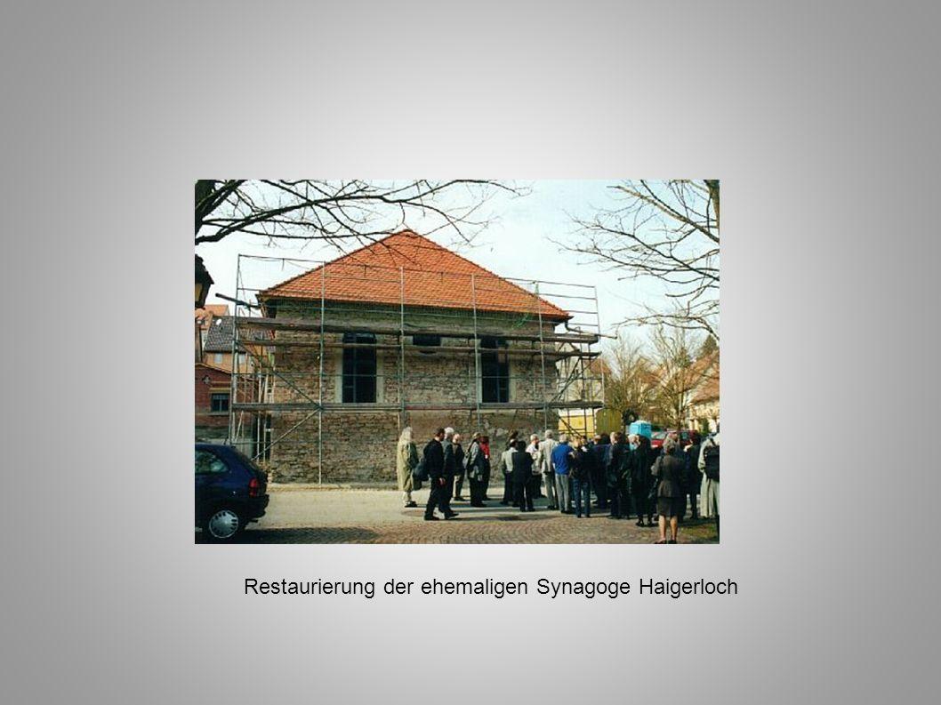 Restaurierung der ehemaligen Synagoge Haigerloch