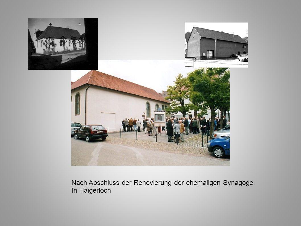Nach Abschluss der Renovierung der ehemaligen Synagoge