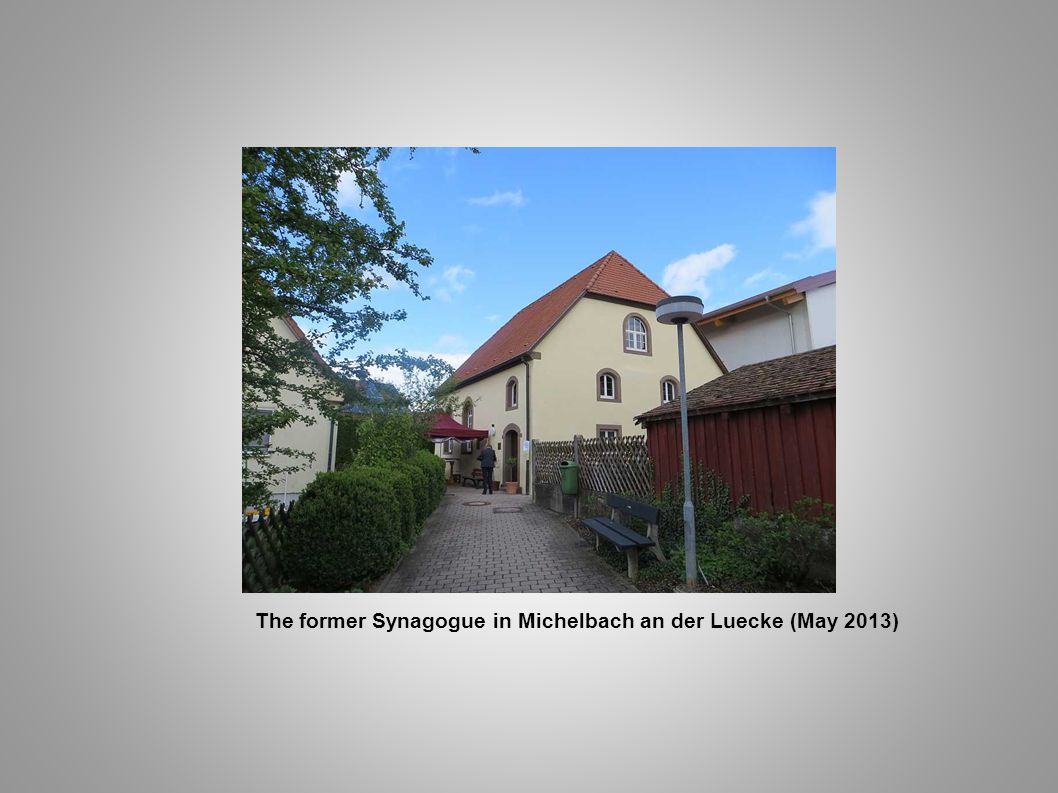 The former Synagogue in Michelbach an der Luecke (May 2013)