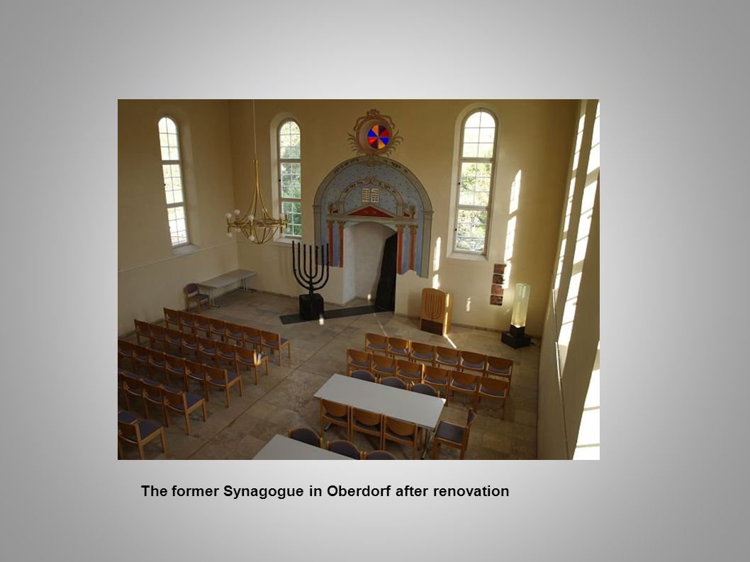 The former Synagogue in Oberdorf after renovation