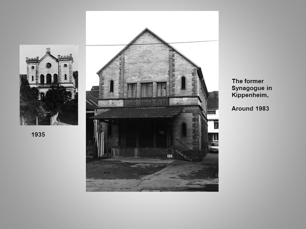 The former Synagogue in Kippenheim, Around 1983 1935 7